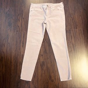 American eagle jegging ankle stretch pink size 8